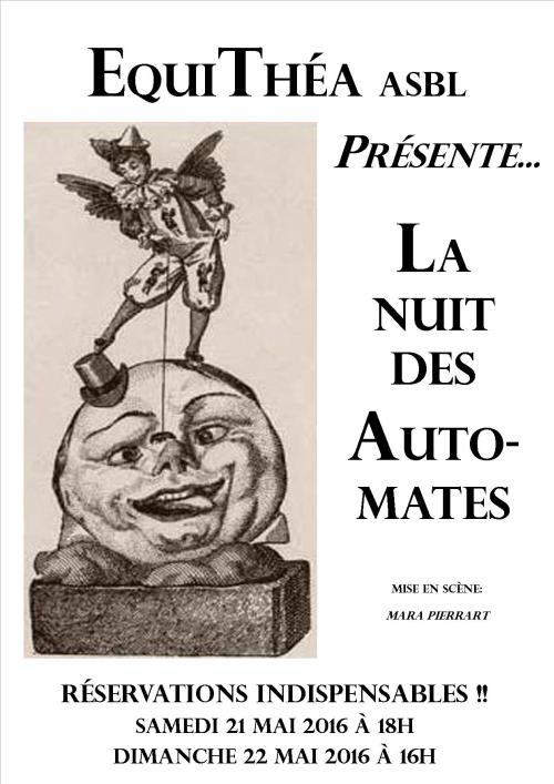 theatre jeunesse, d'arnaudy, la nuit des automates, equithéa, mara pierrart